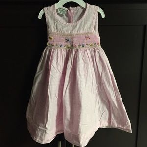 Other - Pink smocked butterfly dress